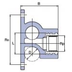 """Настінний трійник з металевої внутрішнім різьбленнямEkoplastik МРВ 25х1/2"""""""