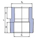 Перехід муфта (зовнішня внутрішня) Ekoplastik 25х20