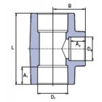 Фасонні частини Ekoplastik трійний перехід 40х20