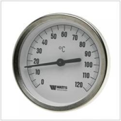Термометри біметалічні з погружною гільзою Watts T 80/50